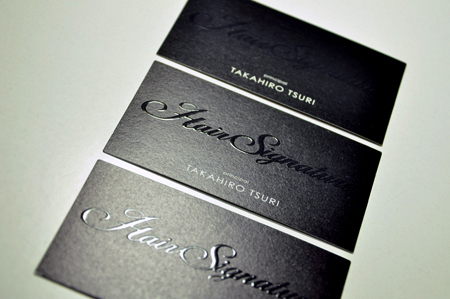Hair Signature_Name card design.